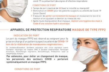 [ Info COVID-19 ] Modification des modalités de port de masque