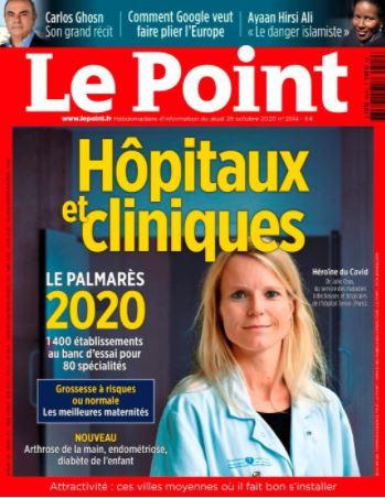 LE POINT – PALMARES DES HÔPITAUX 2020