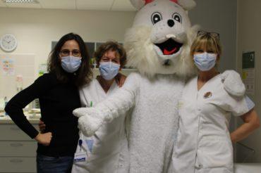[ JOYEUSES PÂQUES ] Le lapin de Pâques dans les services de Belle-Isle !